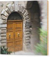 Beautiful Italian Doorway Wood Print