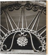 Beautiful Italian Metal Scroll Work 2 Wood Print