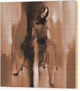 Beautiful Lady 01 Wood Print
