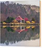 Beautiful Landscape Near Lake Lure North Carolina Wood Print