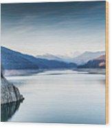 Beautiful Landscape Of The Lake Vidraru Romania Wood Print