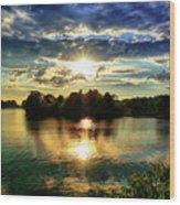 Beautiful Light Of The Golden Hour Wood Print