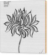 Beautiful Lotus... Black-white Mood Wood Print
