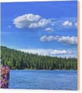 Beautiful Luby Bay On Priest Lake Wood Print