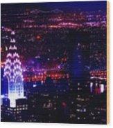 Beautiful Manhattan Skyline Wood Print