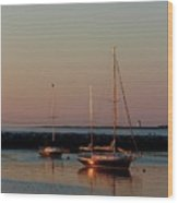 Beautiful Morning Provincetown Pier Wood Print