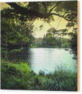 Beautiful Mountain Lake Wood Print