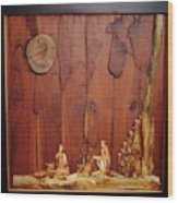 Beautiful Night Artwork With Wooden Waste Wood Print