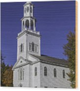 Beautiful Old First Church Wood Print