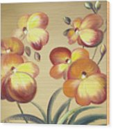 Beautiful Orchid Flowers Wood Print