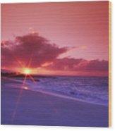 Beautiful Pink Sunset Wood Print