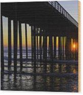 Beautiful Pismo Beach Sunset Wood Print