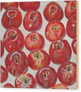 Beautiful Red Apples Wood Print