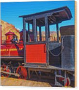 Beautiful Red Calico Train Wood Print