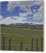 Beautiful Rocky Mountains Wood Print