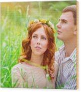 Beautiful Romantic Couple Wood Print