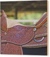 Beautiful Saddle Wood Print
