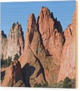 Beautiful Sandstone Spires In Garden Of The Gods Park Wood Print