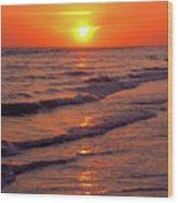 Beautiful Sanibel Sunset Wood Print
