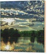 Beautiful Scene Before Sunset Wood Print