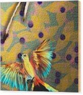 Beautiful Scissor-tailed Flycatchers Wood Print
