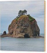 Beautiful Sea Stack Washington Coast Wood Print