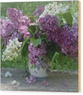 Beautiful Spring Flowers In A Vase Wood Print