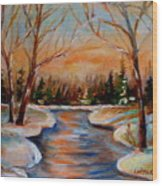 Beautiful  Spring Thaw Wood Print