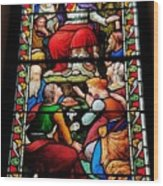 Beautiful Stained Glass At Emmanuel Church Baltimore # 5 Wood Print