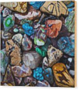 Beautiful Stones Wood Print