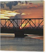 Beautiful Sunset Bridge  Wood Print