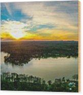 Beautiful Sunset Over Lake Wylie South Carolina Wood Print