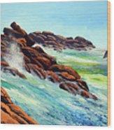 Beautiful Surf Wood Print