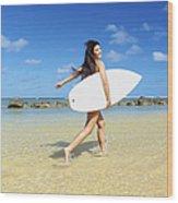 Beautiful Surfer Girl Wood Print