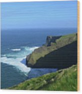Beautiful Sweeping Views Of Ireland's Cliff's Of Moher Wood Print