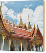 Beautiful Temple Wood Print by Somchai Suppalertporn