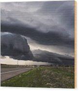 Beautiful Texas Storm Wood Print