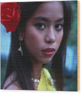Beautiful Thai Girl Wood Print