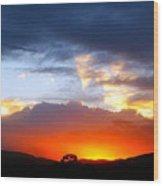 Beautiful Utah Sunset Wood Print