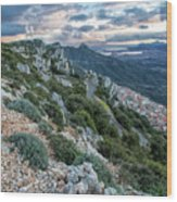 Beautiful View Of Baunei Wood Print