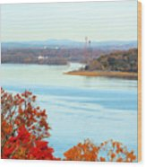 Beautiful View Of The Hudson River 1 Wood Print