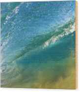Beautiful Wave Breaking Wood Print