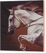 Beautiful White Running Horse 9iu Wood Print