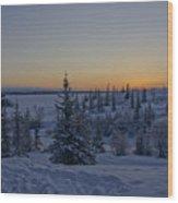 Beautiful Winter Sunrise Wood Print