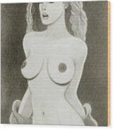 Beautiful Woman Wood Print