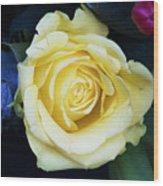 Beautiful Yellow Rose Wood Print