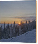 Beautiful Yellowknife Sunrise Wood Print