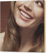 Beautiful Young Smiling Woman Wood Print
