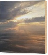 Beauty Above The Clouds Wood Print