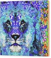 Beauty And The Beast - Lion Art - Sharon Cummings Wood Print